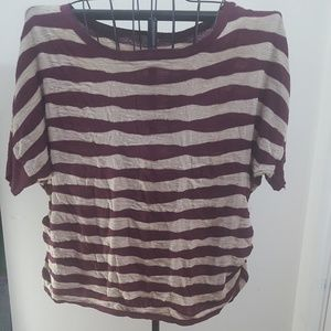 Macy's One A Short Sleeve Striped Plus Sweater
